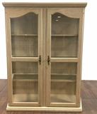 Traditional Style Glass Shelf China Cabinet