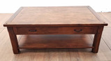 Traditional Oak Coffee Table With Single Drawer