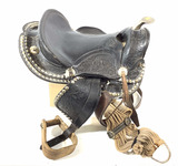 Western Style Tooled Leather Horse Saddle