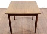 Vintage Danish Modern Teak Slide Top Leaf Table