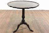 Vintage Quigley Mahogany Pie Crust Pedestal Table