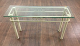 Contemporary Style Beveled Glass Top Console Table