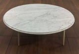 Mid Century Modern Style Marble Top Coffee Table