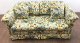 Floral Rolled Arm Loveseat & Throw Pillows