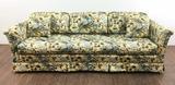 Floral Rolled Arm Sofa & Throw Pillows