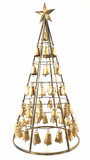 Rustic 49in Christmas Bell Tree Decor