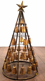 Rustic 36in Christmas Bell Tree Decor