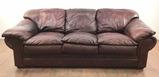 Creative Leather Stitched Leather Sofa