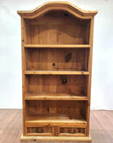 Traditional Rustic Pine Bookcase