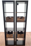 (2) Contemporary Style Bookcases W/ Crates