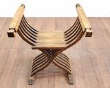 Art Deco Style Oakwood Bench Seat