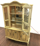 Vintage Queen Anne Style Lit China Cabinet