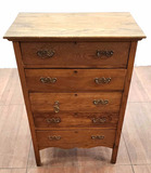 Antique Oakwood  Chest Of Drawers