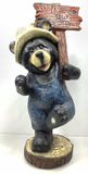 Wipe Your Paws Bear Holding Sign Decor