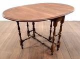 Vintage Mahogany Gate Leg Drop Leaf Dining Table