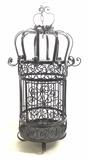 Vintage Victorian Style Wrought Iron Bird Cage