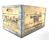 Vintage Wooden Borden's Advertising Milk Crate