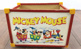 Vintage Walt Disney Mickey Mouse Rolling Toy Box