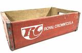 Vintage Wood Royal Crown Cola Advertising Crate