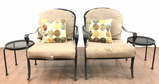 4pc Patio Set With Arm Chairs & End Tables