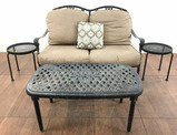 4pc Patio Set W/ Bench, End Tables & Coffee Table