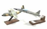 (2pc) Vintage Military Airplane Desk Models