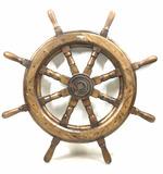 Vintage Decorative Wood Ships Wheel