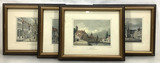 (4pc) Assorted Hand Colored Engravings