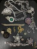 Assorted Costume Necklaces, Pins & Rings