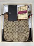 (3pc) Coach Material Bags, Purse & Wallets