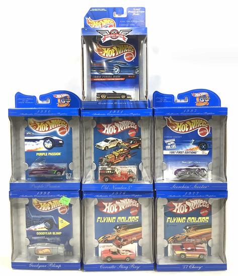 (7pc) Collectors Favorites Hot Wheels Model Cars