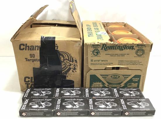 Clay Targets & Rem 223 Rifle Cartridges