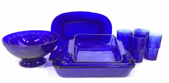 (10 Pc) Blue Anchor Over Ware Cups & Dishes