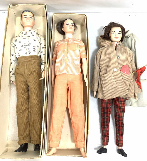 (3 Pc) Vintage Remco Dolls W/ Boxes