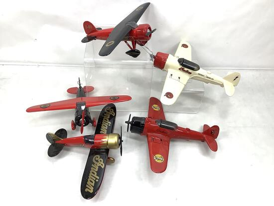 (5 Pc) Indian Motorcycles Die Cast Airplanes