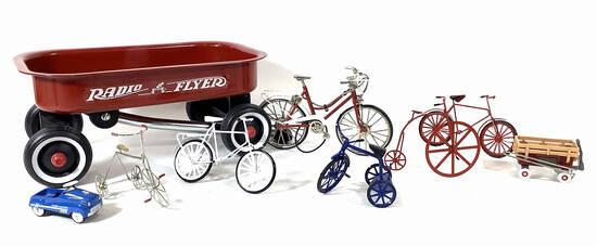 Vintage Radio Flyer Wagon, Bicycle Models