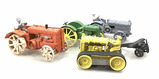 (5 Pc) Vintage Cast Iron & Steel Toy Vehicles
