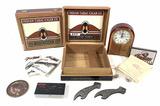 Indian Motorcycles, Cigars, Pins, Clock