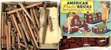 Vintage Lincoln Logs & American Plastic Bricks