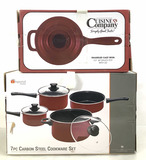 (2 Pc) Cast Iron Sauce Pot & Cookware Set
