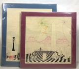 (2pc) Ernest Bersienne Lithograph Prints