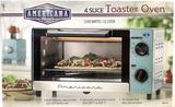 Americana 4 Slice Toaster Oven, 1100 Watts