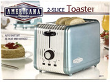 Americana 2 Slice Toaster, Auto Shut Off