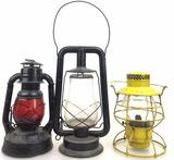 (3) Vintage Kerosene Lamps