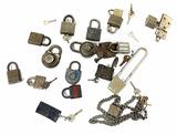 Assorted Vintage Locks, Bolts, Keys