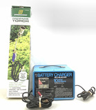 (2pc) 10 Amp Battery Charger & Propane Torch