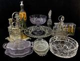 Assorted Glassware, Shakers, Decanters