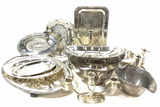 Vintage Silverplate Serving Trays, Candelabras