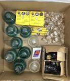 Glass Insulators & Jordan Electronics Dosimeters