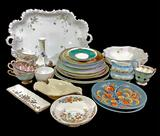 Assorted Vintage Porcelain China, Trays, Plates
